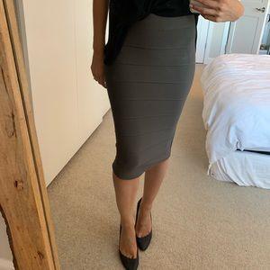 BCBG midi high waist skirt
